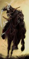 Samurai on horse in attack by artaquilus