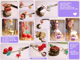 Kawaii Mobile Charms by tedsie