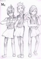 Sketch 2012 Striaton Trio At Your Service by Marini4