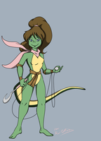 TMNT Mona Lisa 1 reshelled by theblindalley