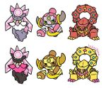 Shiny Gen 6 Stickers 70-72 by hajimikimo