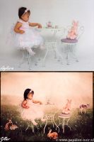 Before and After Summer TeaParty by Papillon-Noir-Art