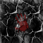 Hand on cracks with lightning by DarkQueen43