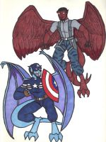Captain and Falcon by starrdust411