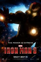 Iron Man 3 - Teaser Poster V3 by jphomeentertainment