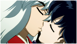 Inuyasha and Kagome First Kiss by IrinaTH
