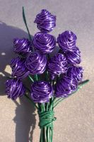 Purple Bouquet of Roses by reynaldomolinawire