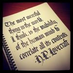 Calligraphy Instagrammed - HP Lovecraft by MShades