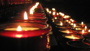 candles in church by tomantic