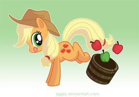 Applejack by jiggly