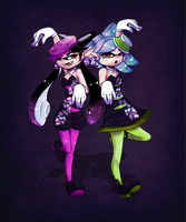 Squid sisters by Neko-luvz