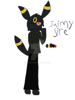 :Gift: Jaimy Sire the umbreon by evilefoserp