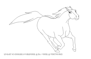 stallion Lineart by CookieCannibleSofiel
