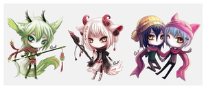 . Chibis . by Nahamut