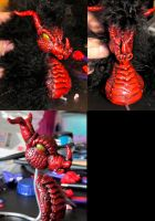 Red Dragon Sculpture WIP by NeverlandJewelry