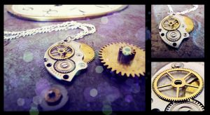 Steampunk Necklace by nutzi66