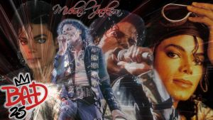 Michael Jackson Bad 25 Wallpaper by Wings-of-Sapphire