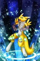 Renamon Colour by Rukaria