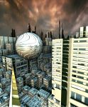 Metaphysical  Evolution of Space Cities by DorianoArt