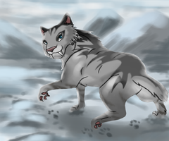Shira the Saber-tooth tiger by Jellywolf25