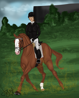 Locket's Dressage Debut by Jessa-bee