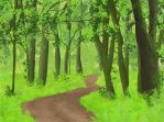 Forest Path In The Summer by jatomlinson