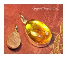 Amber Pendant with Spider by che4u