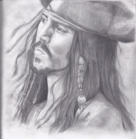 Johnny Depp as Captain Jack Sparrow by theblackcomet