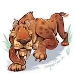 Smile Smilodon! by Shantyland