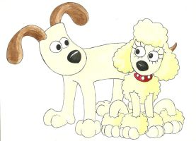 Gromit and Fluffles by Rannva