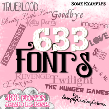 633 FONTS by SimplyDestinyColours