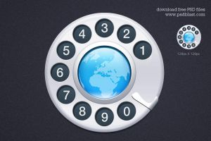 Contact Us Icon (PSD) by psdblast