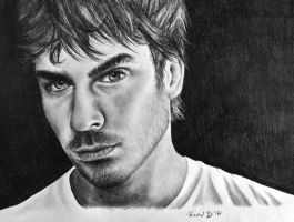 Pencil Drawing of Ian Somerhalder by rachbeth