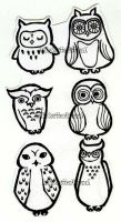 Abstract owls part two by XxTheSmittenKittenxX