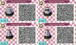 Simple Wolf Sweater Qr Code by BajanStarling