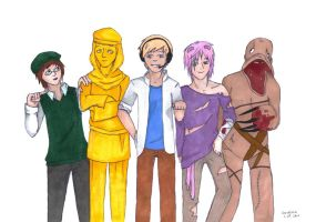 Pewdie and friends by czeresnia666
