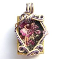 Heliotrope Flower Fairy Pendan by sojourncuriosities