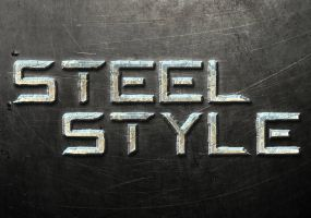 Steel Text Style Tutorial by designercow
