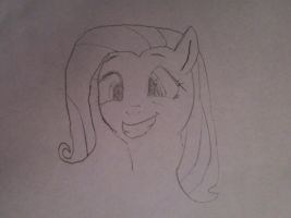 Fluttershy Squee by kaidanXD