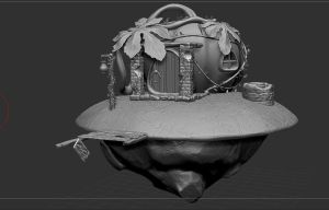 Pumpkin House WIP 01 by Crumpety