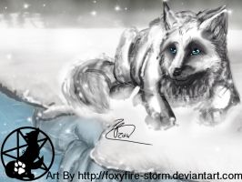 AT: Arctic Wolf by FoxyFire-Storm