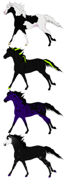 Horse adopts set 11 OPEN by Adopt-A-Shaddix