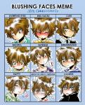 Blushing Faces Meme - Tsuna by Cookies-and-Caco