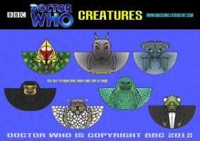 Doctor Who - Creatures by mikedaws