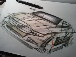 Mercedes Sketch III by Seko91