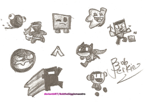 Super Meat Boy players by BobtheGigglemaestro