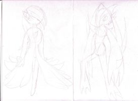 Mega: Gardevoir and Gallade by MistrissTheHedgehog