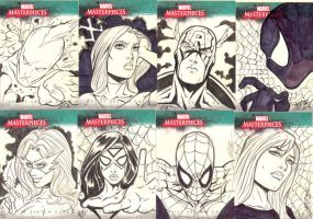 Marvel Sketch Cards 2 by martheus