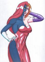 Mystique-Change of Face: Jessica Rabbit by RobertMacQuarrie1