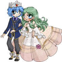 Prince Ice and Princess Ivy ::Comm:: by YamPuff